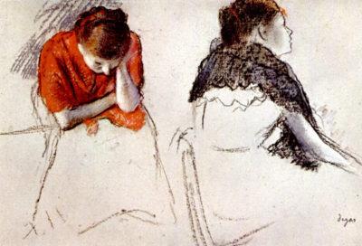 Edgar Degas Two women seated