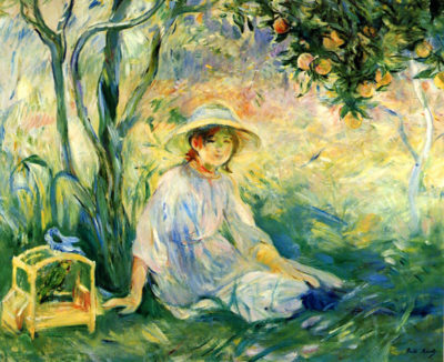 Berthe Morisot Under the Orange tree