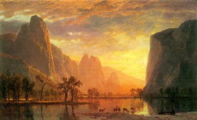 Albert Bierstadt Valley in Yosemite