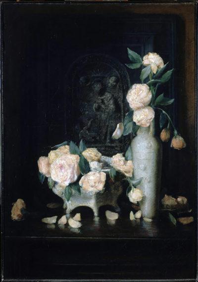 John Ferguson Weir Vase of Roses
