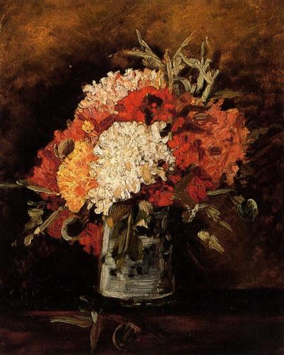 Vincent van Gogh Vase with Carnations