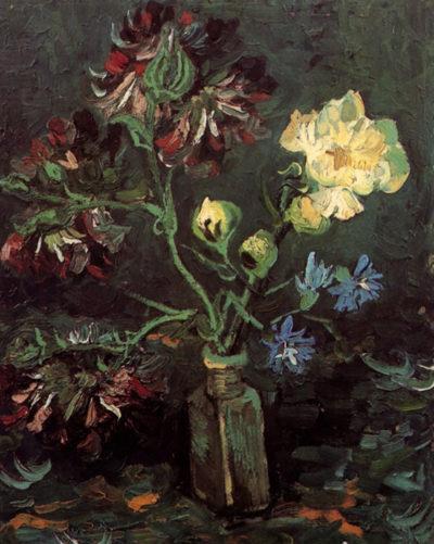 Vincent van Gogh Vase with Myosotis and Peonies