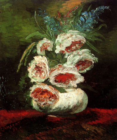 Vincent van Gogh Vase with Peonies