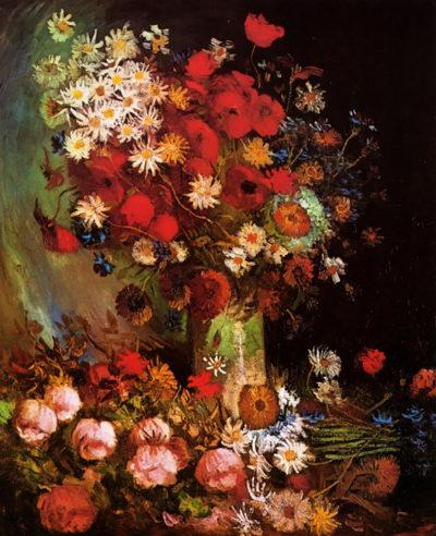 Vincent van Gogh Vase with Poppies