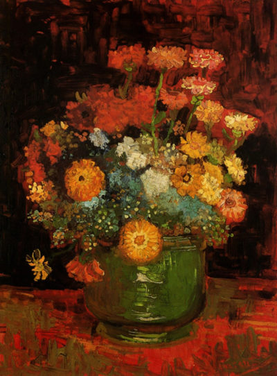 Vincent van Gogh Vase with Zinnias