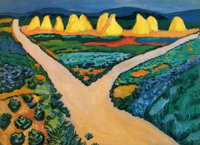 August Macke Vegetable Fields