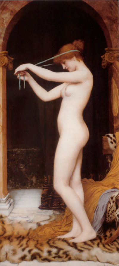 John William Godward Venus Binding Her Hair