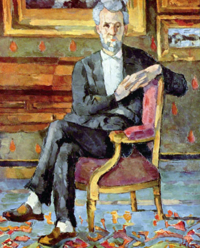 Paul Cézanne Victor Chocquet seated portrait