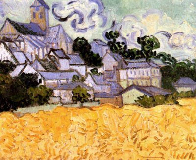 Vincent van Gogh View of Auvers with Church