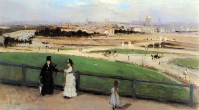 Berthe Morisot View of Paris from Trocadéro