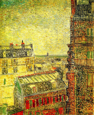 Vincent van Gogh View of Paris from Vincent's Room in the Rue Lepic
