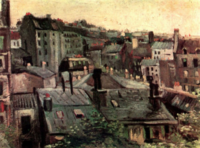 Vincent van Gogh View of Roofs and Backs of Houses