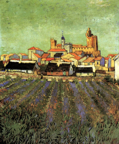 Vincent van Gogh View of Saintes-Maries