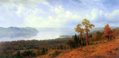 Albert Bierstadt View of the Hudson River Valley