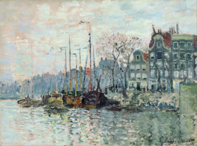 Claude Monet View of the Kromme Waal in Amsterdam