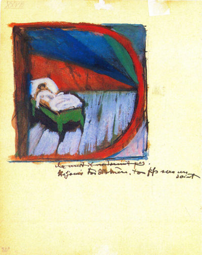 Franz Marc Vignette 'D'