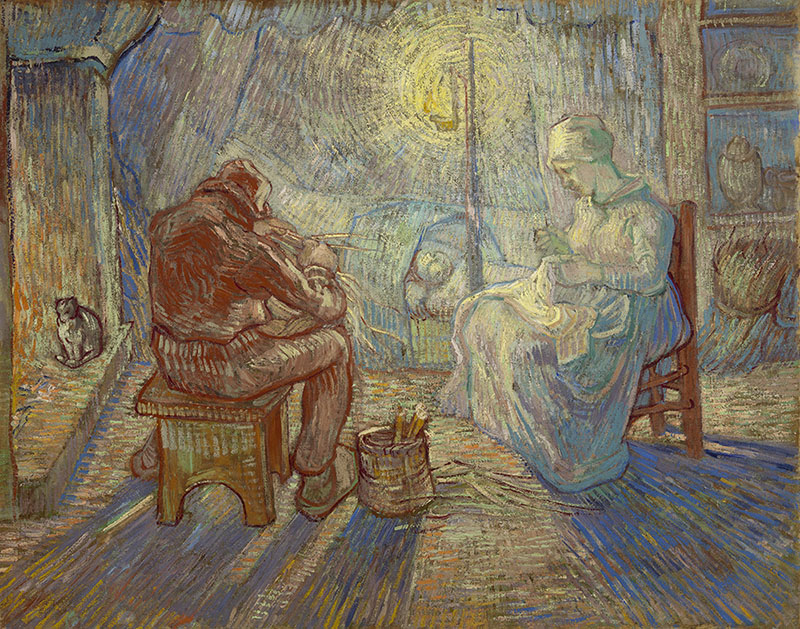 Vincent van Gogh Evening (after Millet)