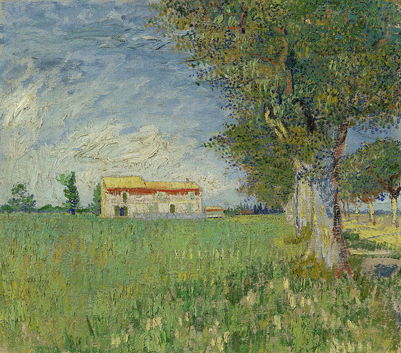 Vincent van Gogh Farmhouse in a Wheatfield