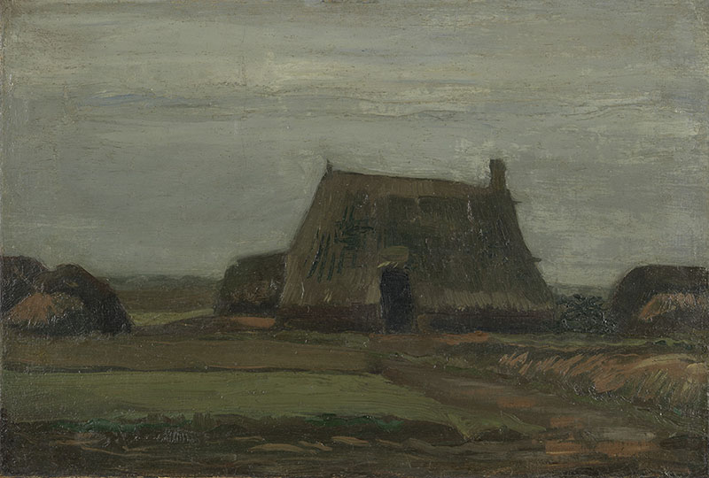 Vincent van Gogh Farm with Stacks of Peat