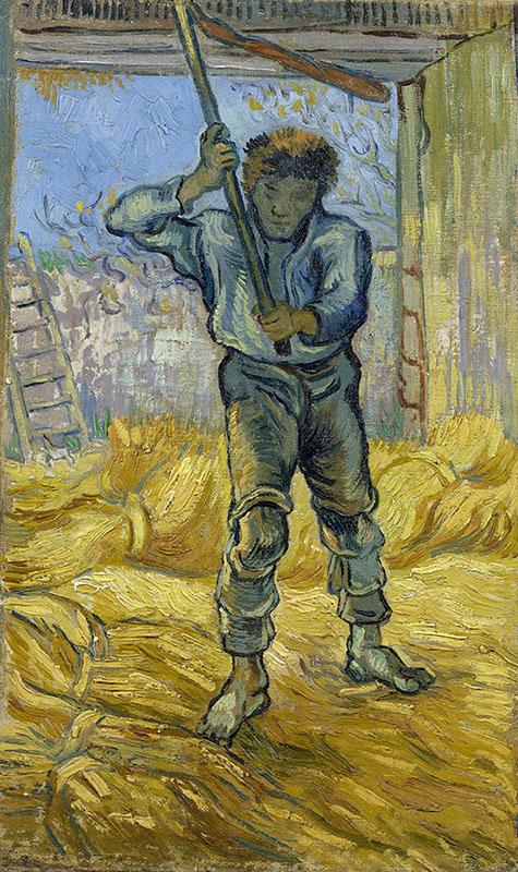 Vincent van Gogh The Thresher (after Millet)
