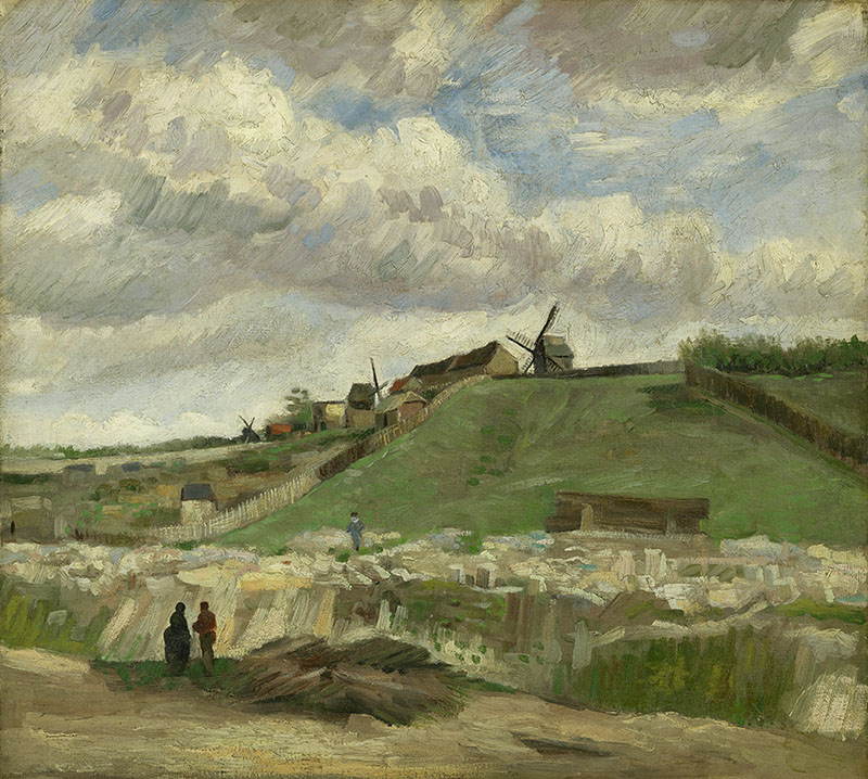 Vincent van Gogh The Hill of Montmartre with Stone Quarry