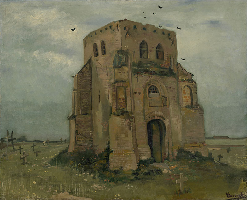 Vincent van Gogh The Old Church Tower at Nuenen ('The Peasants' Churchyard')