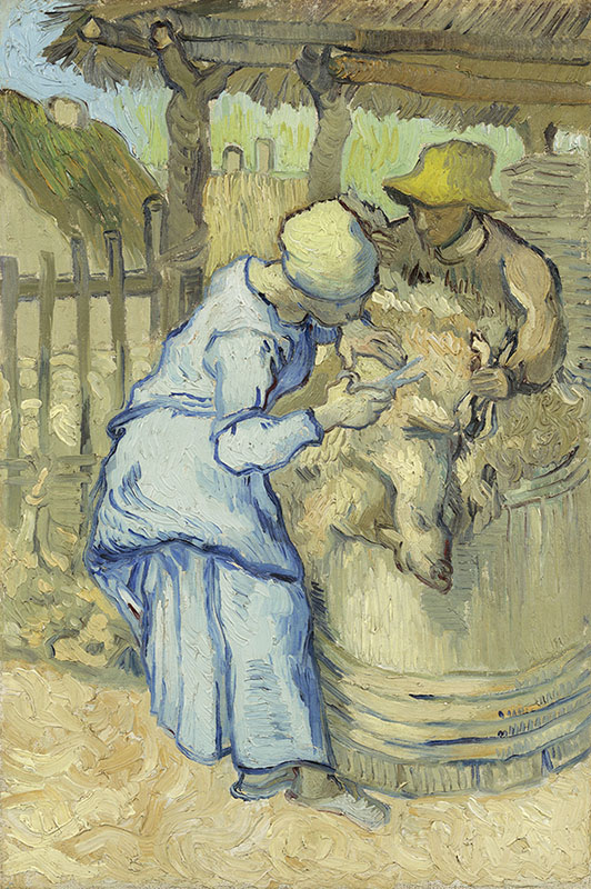 Vincent van Gogh The Sheepshearer (after Millet)