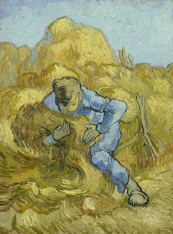 Vincent van Gogh The Sheaf-Binder (after Millet)