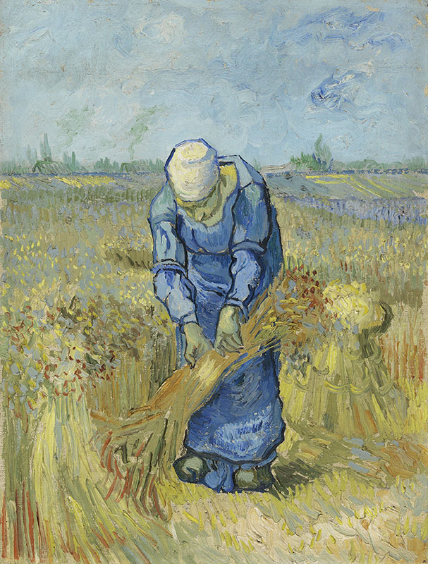Vincent van Gogh Peasant Woman Binding Sheaves (after Millet)