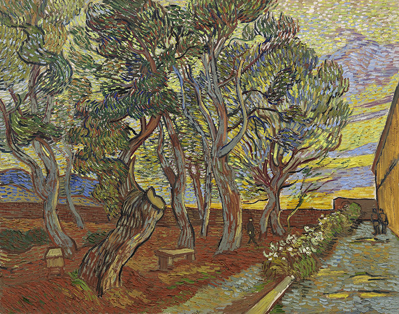 Vincent van Gogh Garden of the Asylum