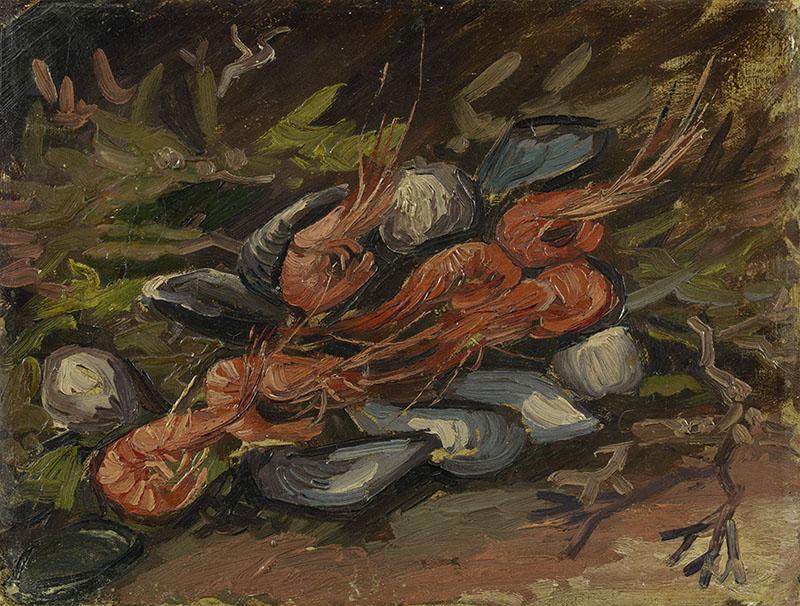 Vincent van Gogh Prawns and Mussels