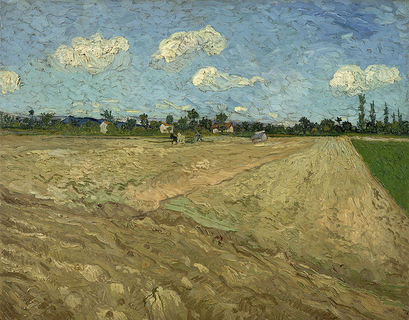 Vincent van Gogh Ploughed Fields ('The Furrows')
