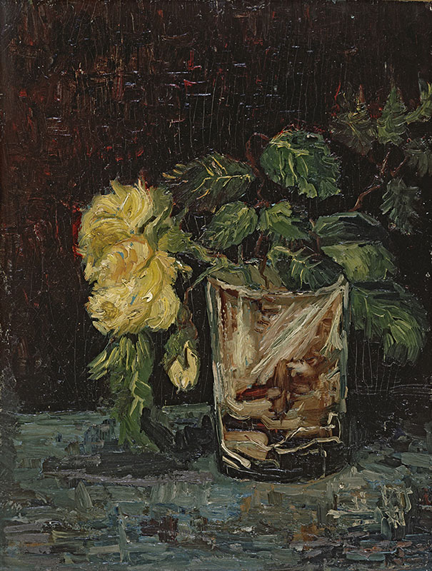 Vincent van Gogh Glass with Yellow Roses