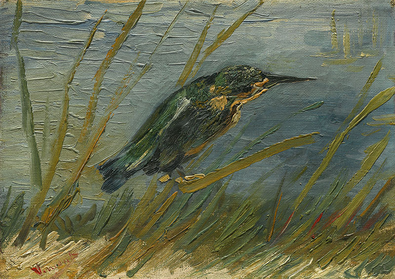 Vincent van Gogh Kingfisher by the Waterside