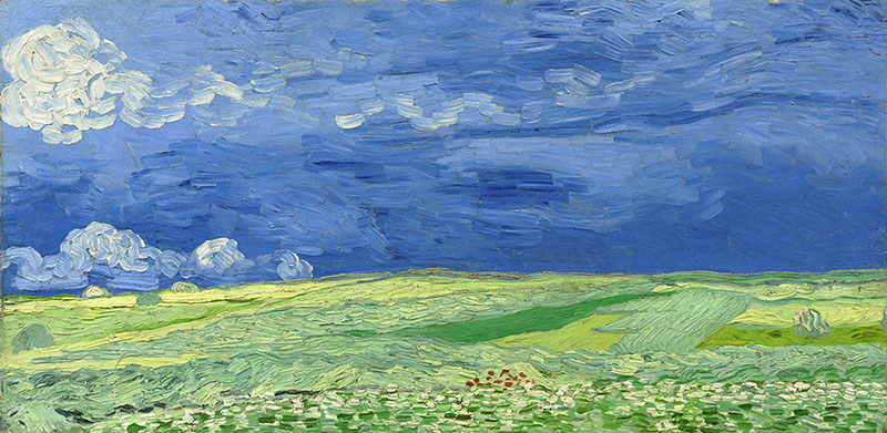 Vincent van Gogh Wheatfield under Thunderclouds