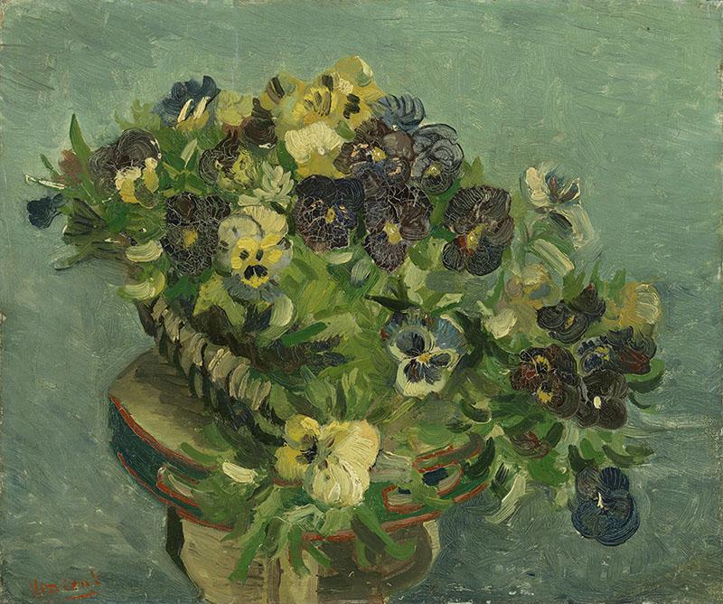 Vincent van Gogh Basket of Pansies