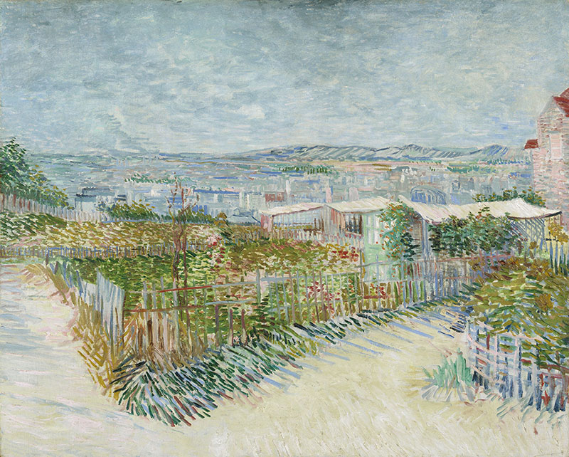 Vincent van Gogh Montmartre: Behind the Moulin de la Galette