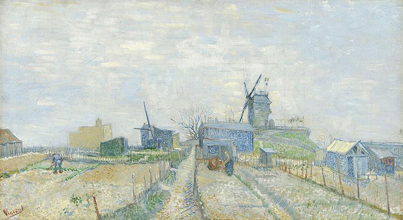 Vincent van Gogh Montmartre: Windmills and Allotments