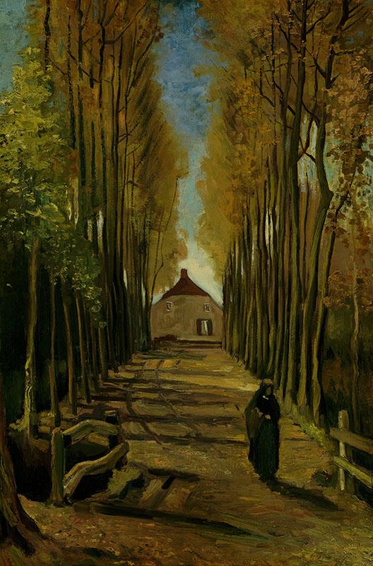 Vincent van Gogh Avenue of Poplars in Autumn