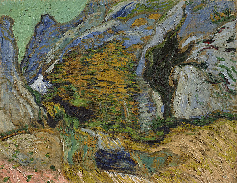 Vincent van Gogh Ravine with a Small Stream