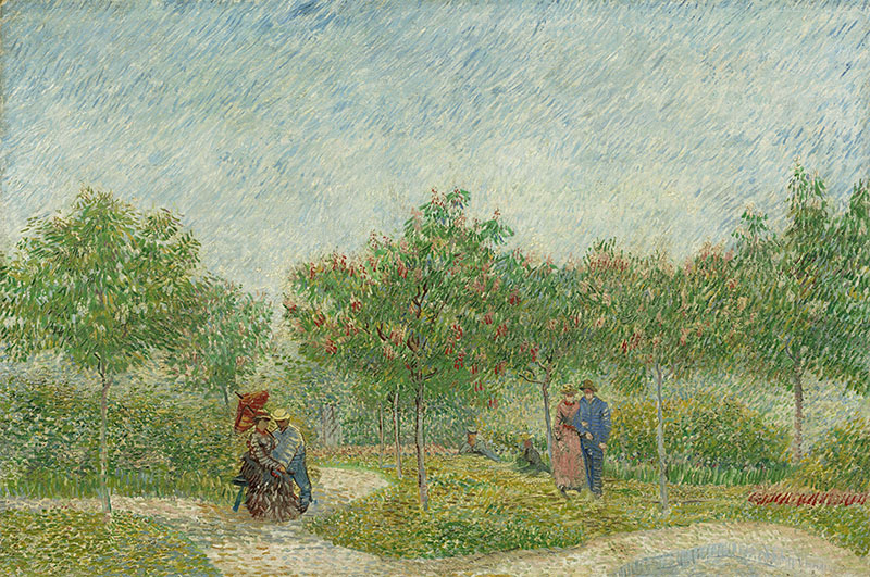 Vincent van Gogh Garden with Courting Couples: Square Saint-Pierre