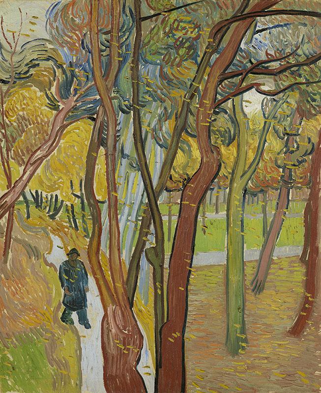 Vincent van Gogh The Garden of Saint Paul's Hospital ('Leaf-Fall')