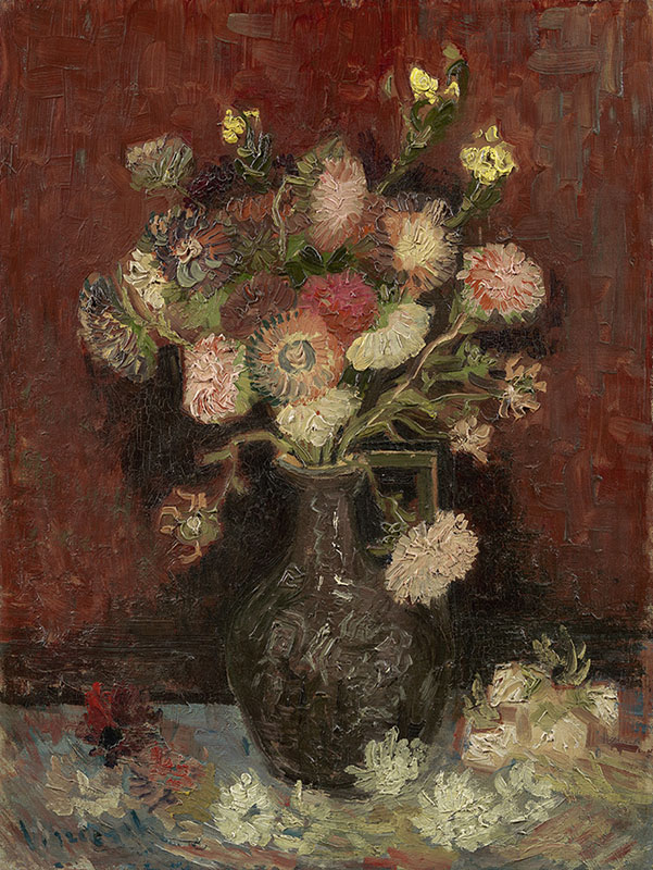 Vincent van Gogh Vase with Chinese Asters and Gladioli