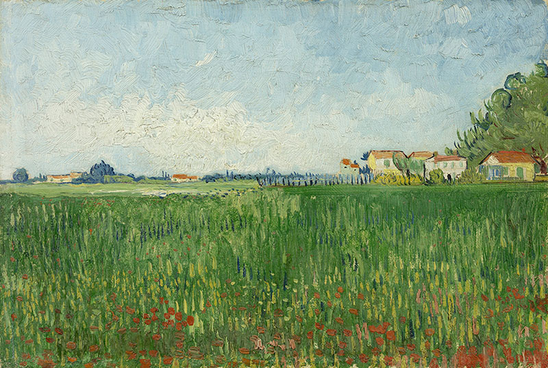 Vincent van Gogh Field with Poppies