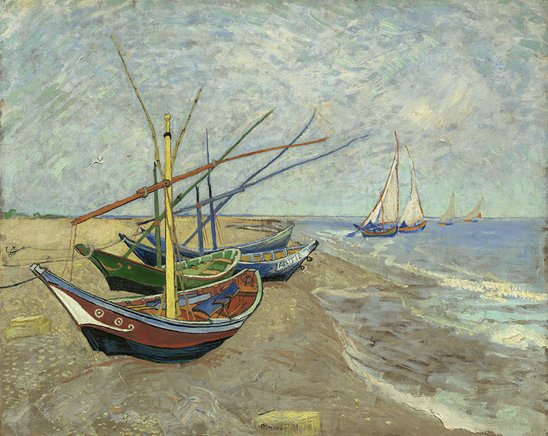 Vincent van Gogh Fishing Boats on the Beach at Les Saintes-Maries-de-la-Mer
