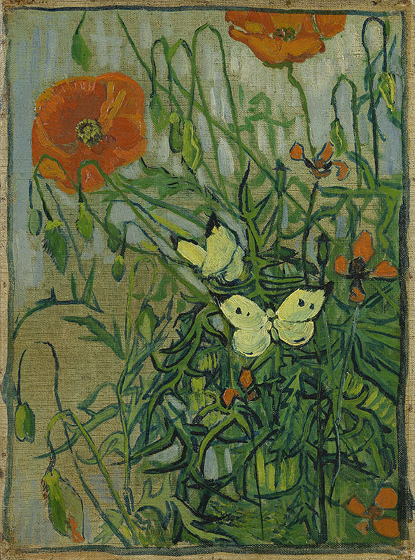Vincent van Gogh Butterflies and Poppies