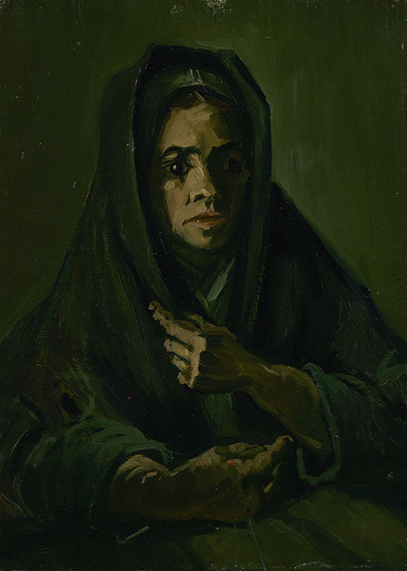 Vincent van Gogh Woman with a Mourning Shawl