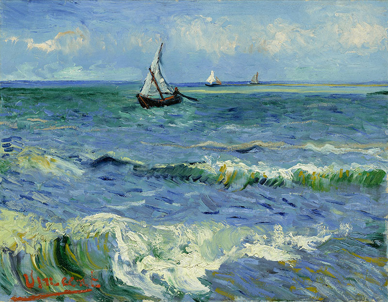 Vincent van Gogh Seascape near Les Saintes-Maries-de-la-Mer