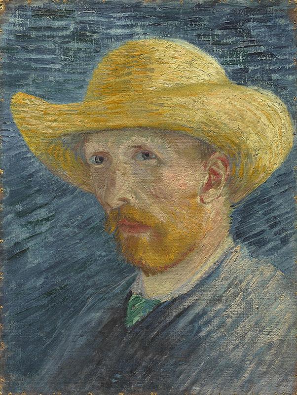 Vincent van Gogh Self-Portrait with Straw Hat
