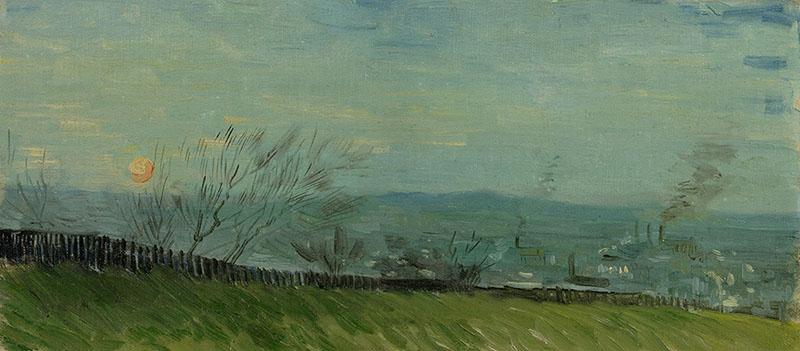 Vincent van Gogh Sunset in Montmartre